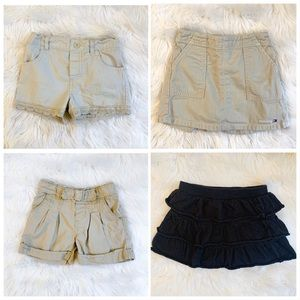 3t skort/short bundle- khaki/black